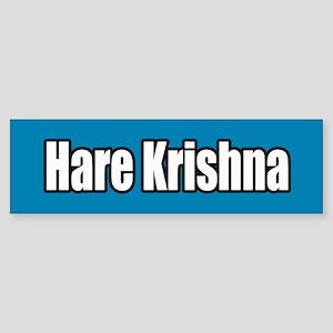 Hare Krishna Blue Bumper Sticker