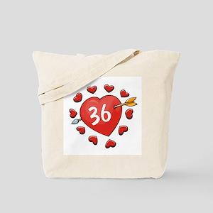36th Valentine Dog T-Shirt Tote Bag