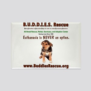B.U.D.D.I.E.S. Rescue Rectangle Magnet