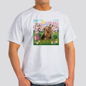 Blossoms/Yorkie #7 Light T-Shirt