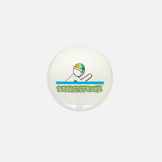 Breaststroke Mini Button
