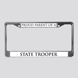 Proud Parent: State Trooper License Plate Frame