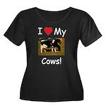 Love My Cows Women's Plus Size Scoop Neck Dark T-S