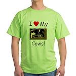 Love My Cows Green T-Shirt