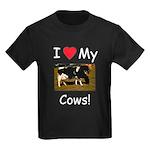 Love My Cows Kids Dark T-Shirt
