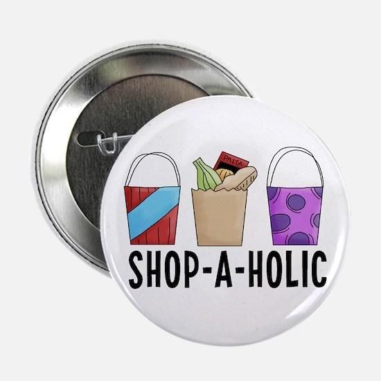 "Shop-A-Holic (bags) 2.25"" Button"