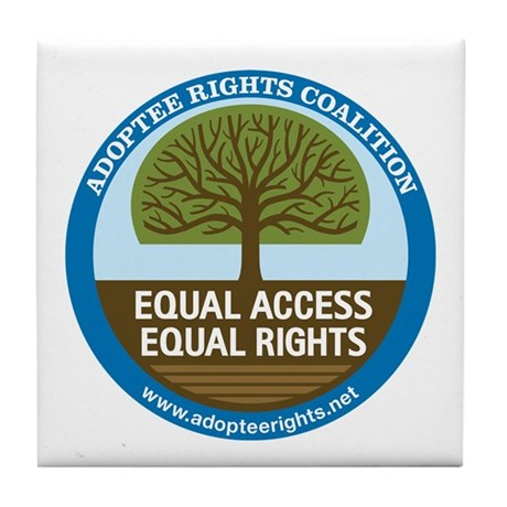 Adoptee Rights Coalition Tile Coaster