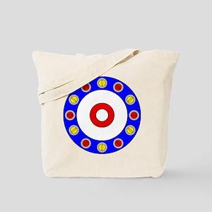 Curling Circle with Rocks Tote Bag