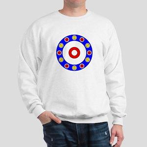 Curling Circle with Rocks Sweatshirt