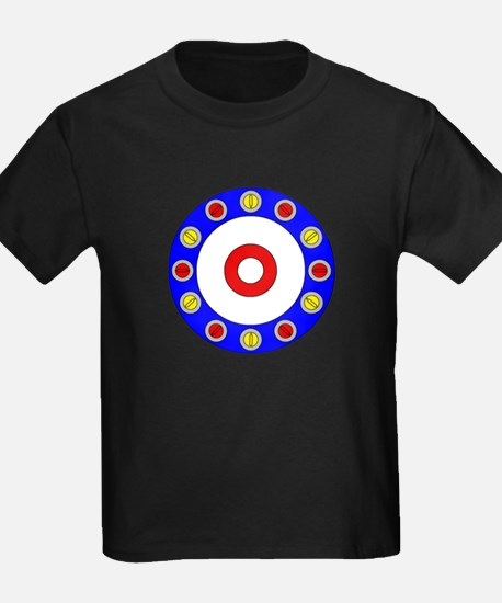 Curling Circle with Rocks T