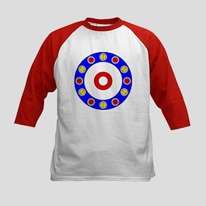 Curling Circle with Rocks Kids Baseball Jersey