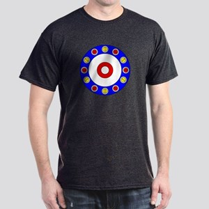 Curling Circle with Rocks Dark T-Shirt