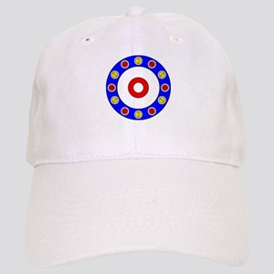 Curling Circle with Rocks Cap