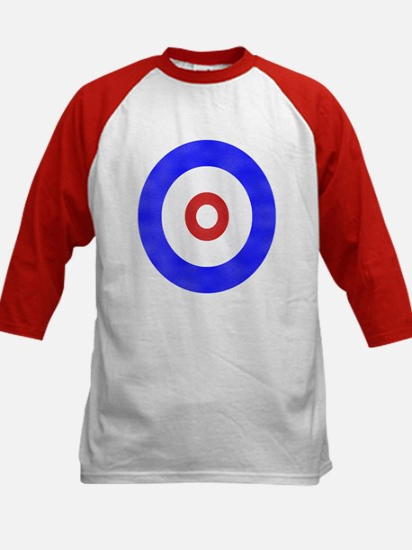Curling Circle Ice Kids Baseball Jersey