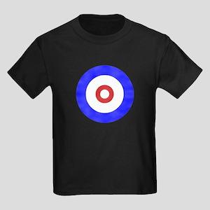 Curling Circle Ice Kids Dark T-Shirt
