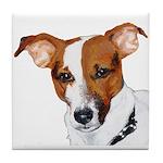Jack Russell Portrait Tile Coaster