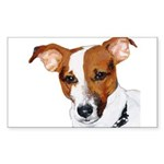 Jack Russell Portrait Sticker (Rectangle)