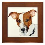 Jack Russell Portrait Framed Tile