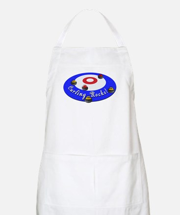 Curling Rocks! Apron
