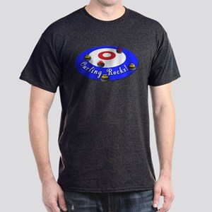 Curling Rocks! Dark T-Shirt
