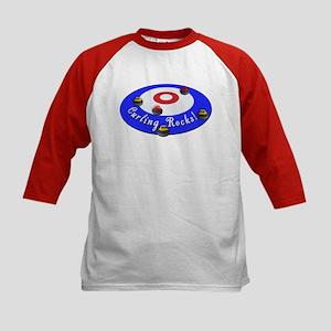 Curling Rocks! Kids Baseball Jersey