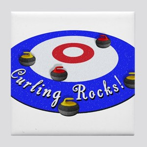 Curling Rocks! Tile Coaster