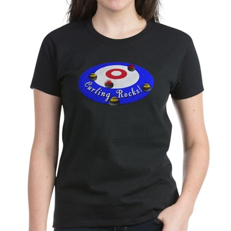 Curling Rocks! Women's Dark T-Shirt