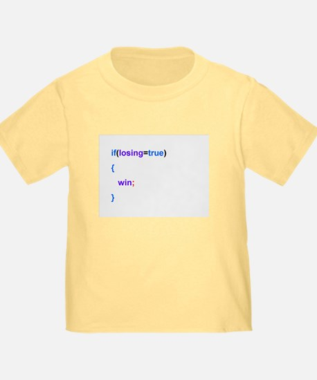 Programmed to win youth shirt