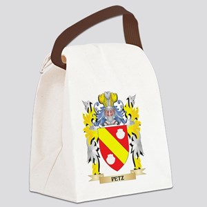 Petz Family Crest - Coat of Arms Canvas Lunch Bag