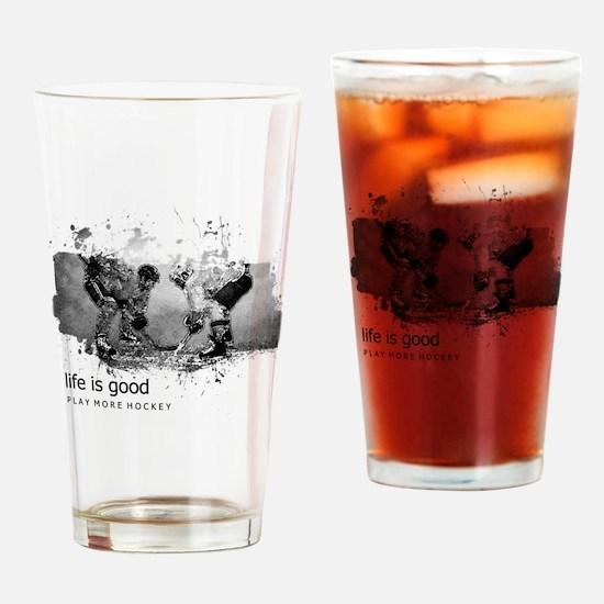 Cute Blackhawks hockey Drinking Glass