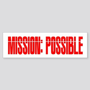 mission possible Sticker (Bumper)
