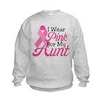 Pink For Aunt Kids Sweatshirt
