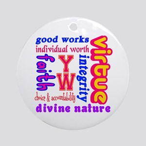 Young Women Values Ornament (Round)
