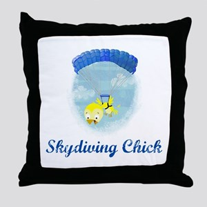 Skydiving Chick (2) Throw Pillow