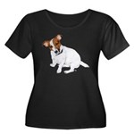 Jack Russell Painting Women's Plus Size Scoop Neck