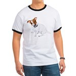 Jack Russell Painting Ringer T