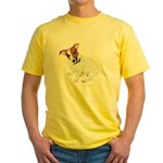 Jack Russell Painting Yellow T-Shirt