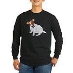 Jack Russell Painting Long Sleeve Dark T-Shirt