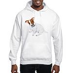 Jack Russell Painting Hooded Sweatshirt