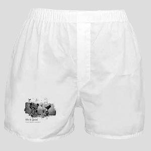 Life Is Good Play More Hockey Boxer Shorts