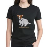 Jack Russell Terrier Painting Women's Dark T-Shirt