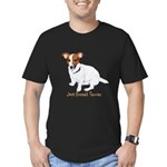 Jack Russell Terrier Painting Men's Fitted T-Shirt