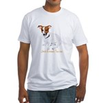 Jack Russell Terrier Painting Fitted T-Shirt