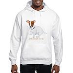 Jack Russell Terrier Painting Hooded Sweatshirt
