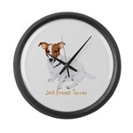 Jack Russell Terrier Painting Large Wall Clock