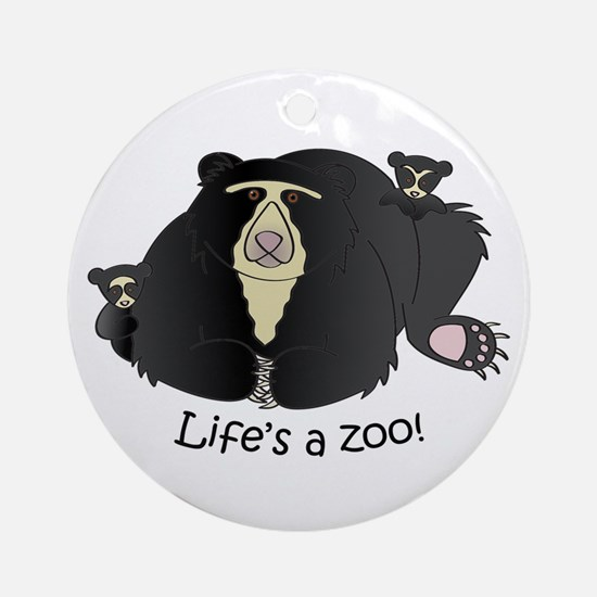 Spectacled Bear Ornament (Round)