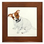 Jack Russell Painting Framed Tile
