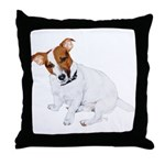 Jack Russell Painting Throw Pillow