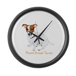 Parson Russell Painting Large Wall Clock
