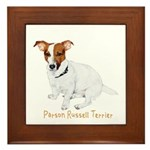 Parson Russell Painting Framed Tile